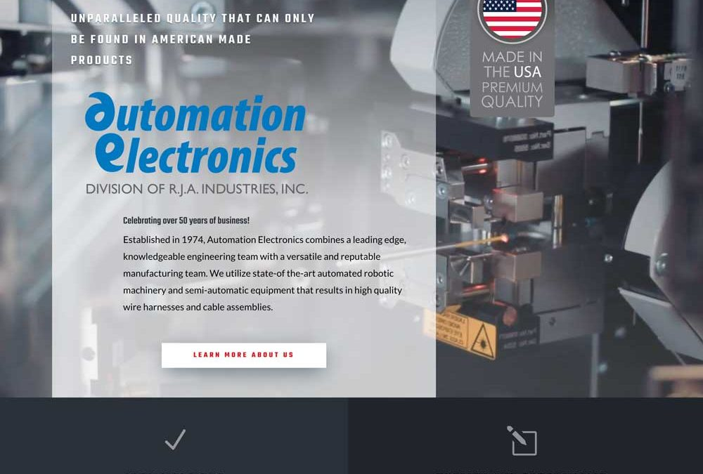 Automation Electronics Website Design & Development