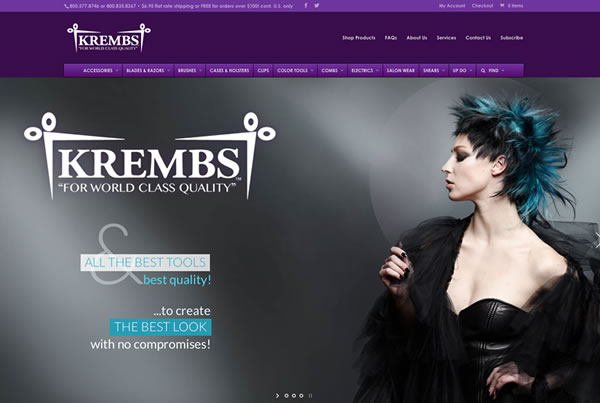 Responsive web design & new e-commerce shop for Krembs